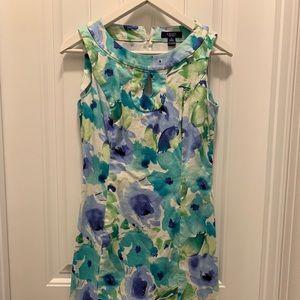 Chaps Floral Keyhole Sleeveless Dress